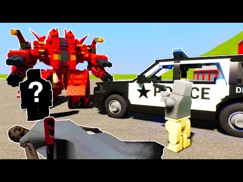 POLICE CHASE AND ARREST LEGO GRANNY'S MURDERER! - Brick Rigs Lego RolePlay