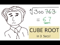 Fast Cube Root Calculations in Mind!