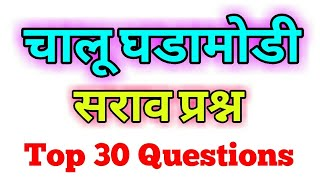 चालू घडामोडी सराव प्रश्न ।। मेगा भरती 2018 ।। Top current affairs mcq most important ।।