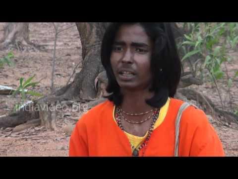 Lonely Baul Singer near Shantiniketan