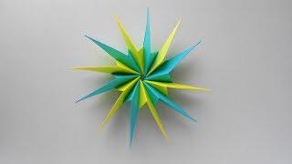 paper origami star Звезда из бумаги. Оригами поделки на Новый год 2018