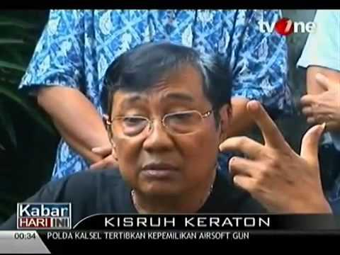 Kisruh Kraton Surakarta  Raja Pakubuwono XIII Akhirnya Angkat Bicara 29 Agustus 2013