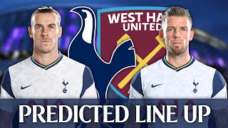 Will Bale Start? Tottenham Vs West Ham [PREDICTED LINE-UP]