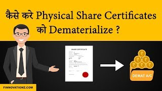 How to convert a physical share certificate into Demat | In Hindi