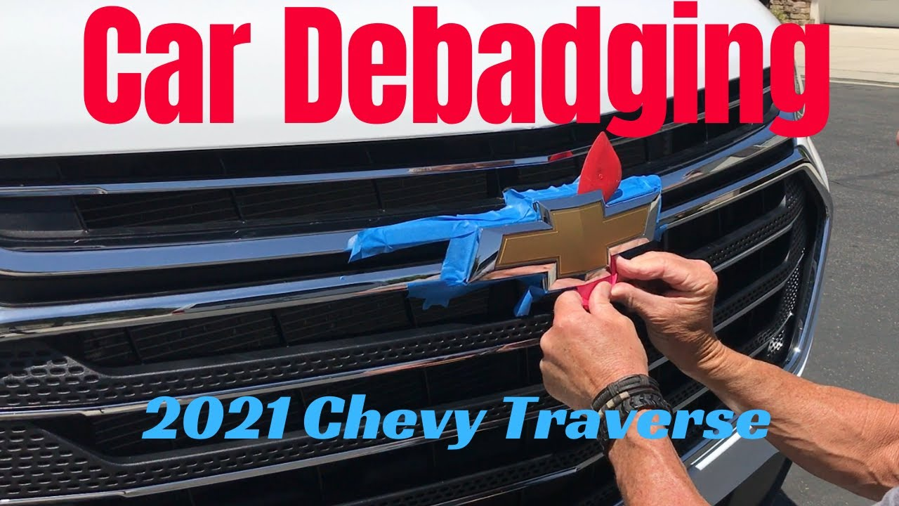 2021 Chevy Traverse Debadge: swapping yellow Chevy logo to black