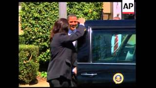 US President attends church service