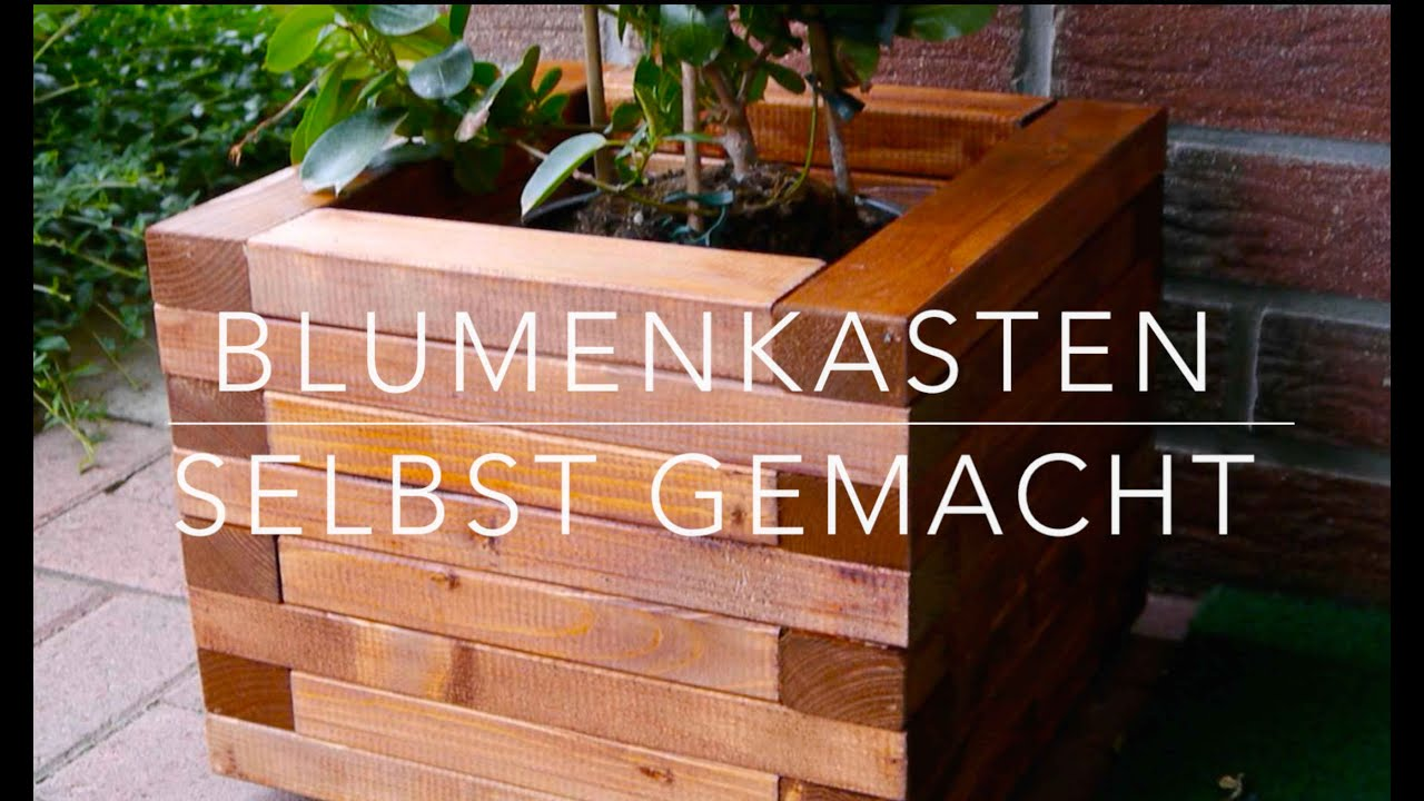 diy blumenkasten aus holz kinderleicht bauen youtube. Black Bedroom Furniture Sets. Home Design Ideas