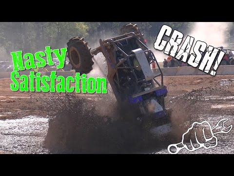NASTY SATISFACTION MUD TRUCK CRASHES at Muddy Bottoms