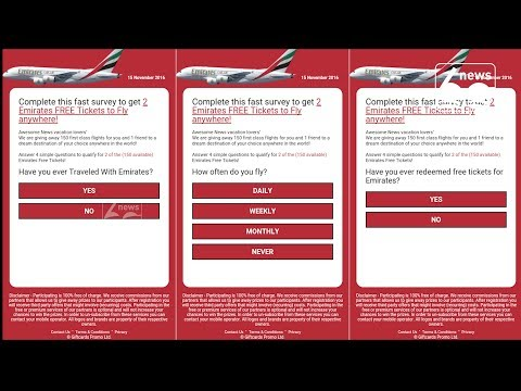Emirates warns flyers of free ticket scam