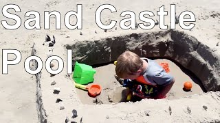 How to Make a Kiddie Pool Sand Castle with Beach Tools   Our Outer Banks, NC Vacation Project