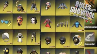 $3000 SKINS IN RULES OF SURVIVAL! RAREST SKINS? ( Depot Review )