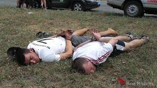 Жестокое задержание грабителей-наркоманов на Набережной