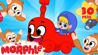 Morphle's Magic Monkey Train - Vehicles, Trains & Cars | Mila and Morphle | Cartoons for Kids