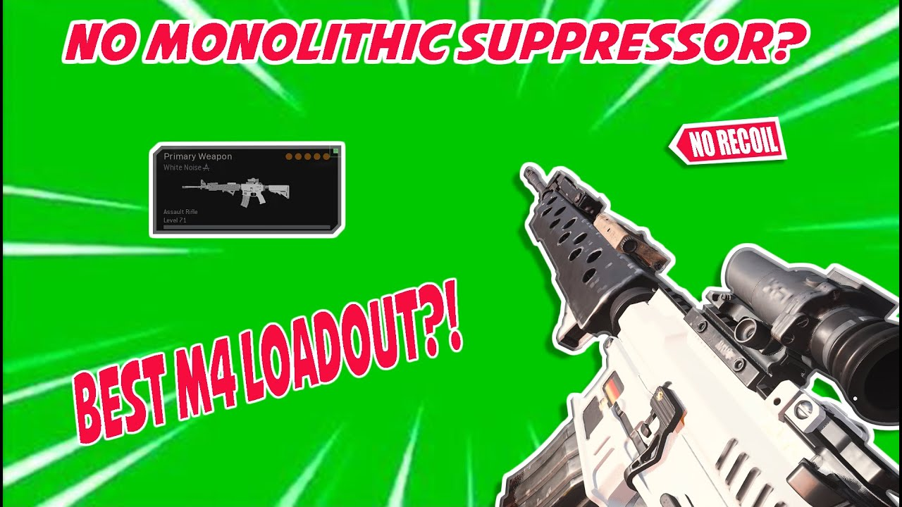 WARZONE - Best M4A1 Loadout with NO MONOLITHIC SUPPRESSOR ...