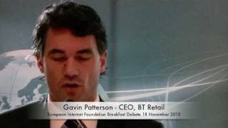 Gavin Patterson - CEO, BT Retail speaks at EIF Breakfast Debate