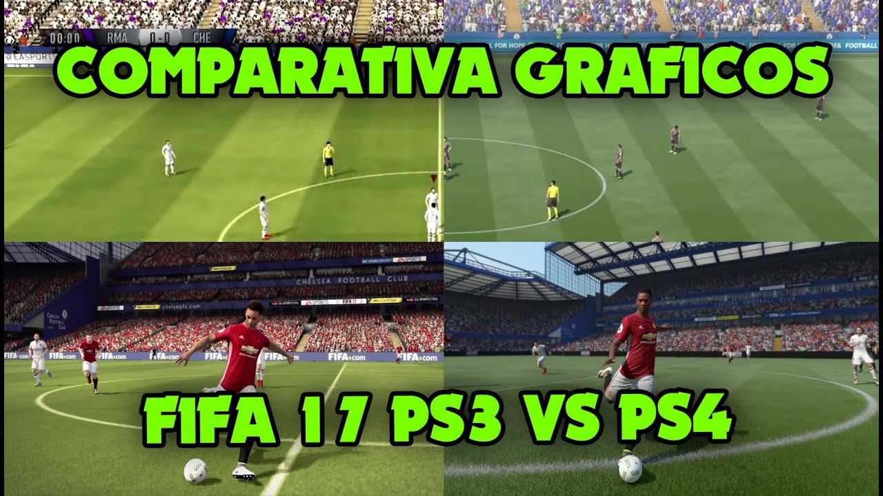 fifa 17 comparativa gr fica ps3 vs ps4 youtube. Black Bedroom Furniture Sets. Home Design Ideas