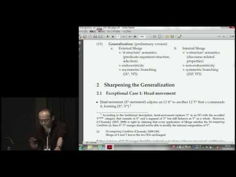 Kyoto Conference on Biolinguistics, Naoki Fukui