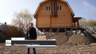 видео Свайно-винтовой фундамент под дом из бруса