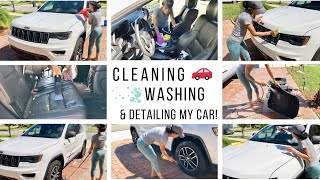 CAR CLEANING ROUTINE // STAY AT HOME MOM OF 3 // Jessica Tull cleaning motivation