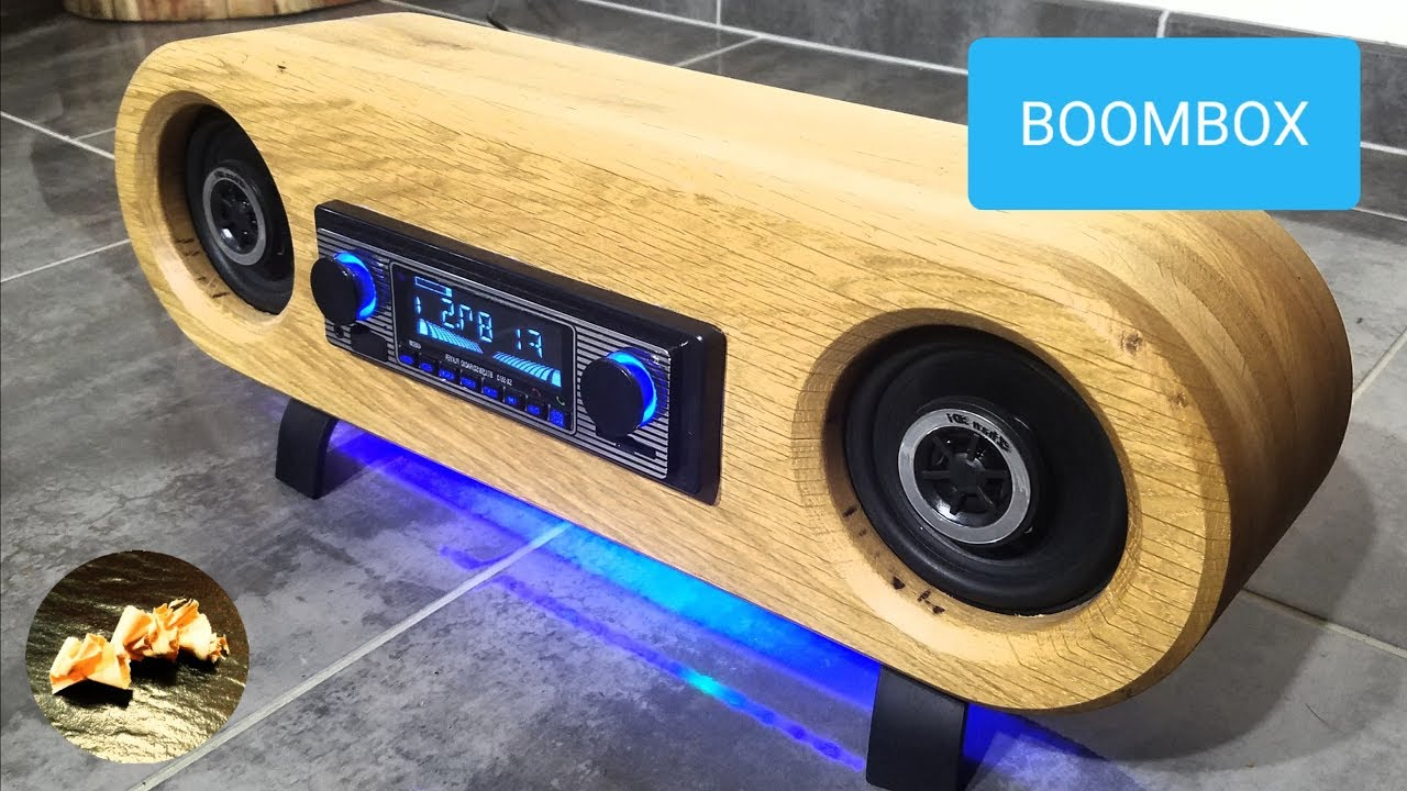 Boombox Bluetooth Bois Led Diy