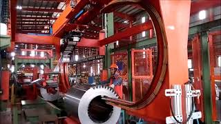 COIL KING WRAPPING MACHINE FOR STEEL COILS