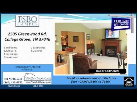 3 bedroom Home for sale near Eagleville School in College Grove TN