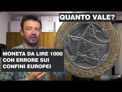 La Moneta Da Lire 1000 Del 1997 Con Errore Sui Confini Europei, QUANTO VALE?