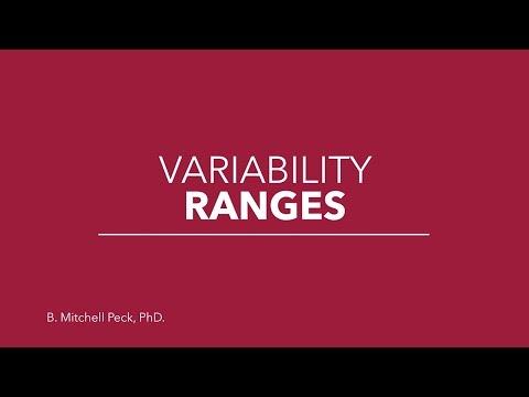 Social Statistics - Variability: Ranges