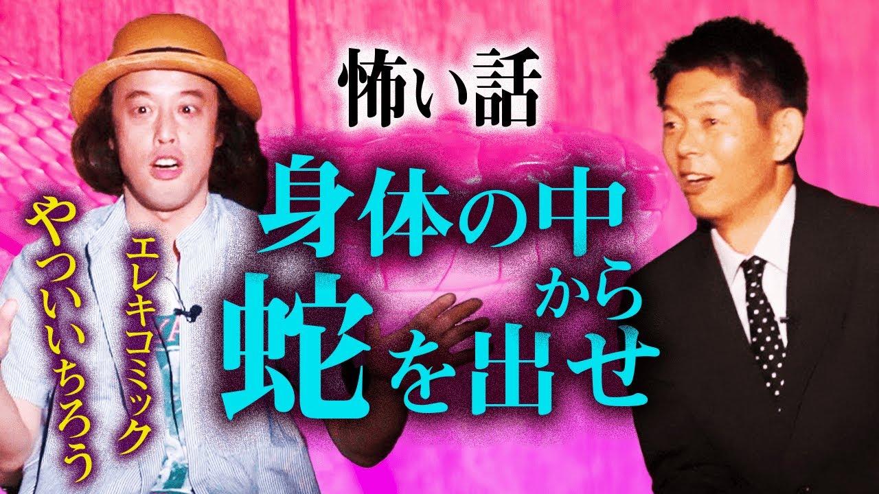 【やついいちろう怪談】ヘビが出て生まれた子供が能力者に『島田秀平のお怪談巡り』