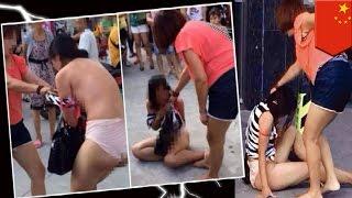 VIDEO: Babae, hinubaran at binugbog ang kerida ng asawa, sa kalsada!