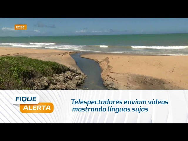 Telespectadores enviam vídeos mostrando línguas sujas na Orla de Cruz das Almas