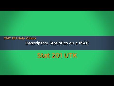 Excel 2016 Tutorials  - Descriptive Statistics On A MAC