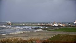 10-02-2020 Sturmtief Sabine Sturm Norddeich Norderney - Heftiges Hochwasser - Sandsturm Norderney