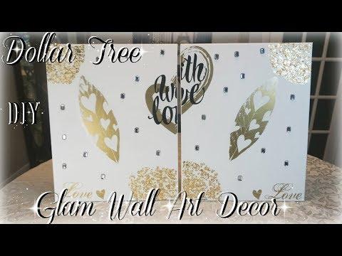 DIY DOLLAR TREE GLAM WALL ART DECOR  DIY ROOM DECOR  PETALISBLESS 🌹