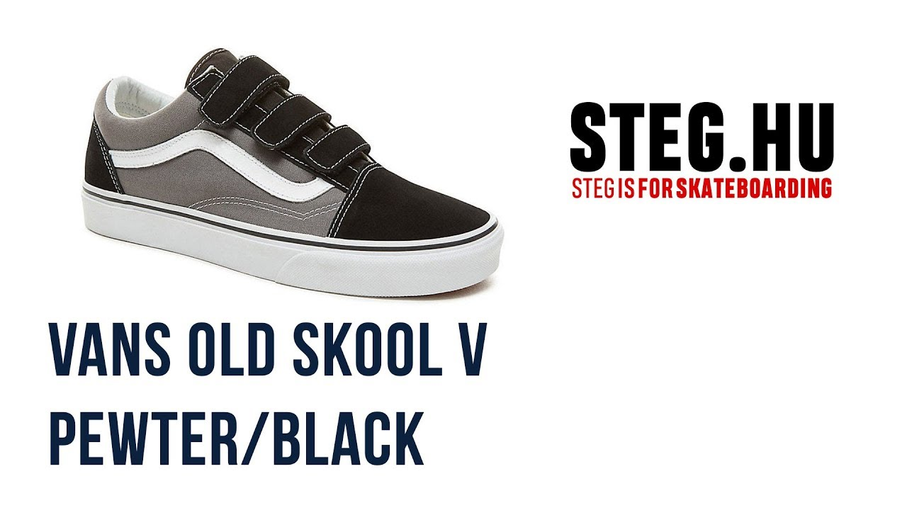 Vans Old Skool V cipő Pewter Black