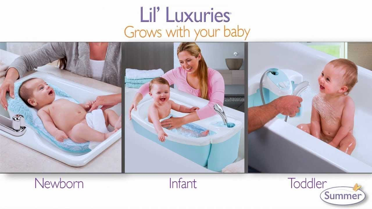 Pink Summer Infant Lil Luxuries Whirlpool Bubbling Spa /& Shower Bath Tub