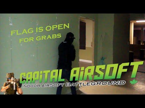 Airsoft Gameplay  capture the flag CQB Capital Airsoft Edmonton.