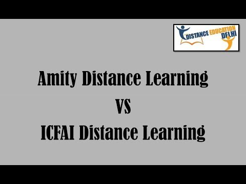 Amity Distance Learning vs ICFAI Distance Learning