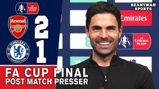 Arsenal 2-1 Chelsea - Mikel Arteta - Post Match Press Conference - FA Cup Final