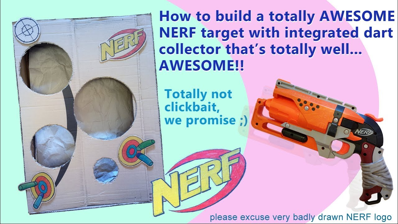 graphic regarding Nerf Targets Printable titled How towards create a NERF emphasis versus cardboard which includes a direction in direction of get NERF darts your self shoot