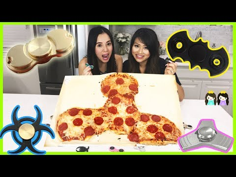 Thumbnail: FIDGET SPINNER PIZZA + HAND SPINNERS COLLECTION CHALLENGE DIY GIANT FIDGET TOY Princess ToysReview