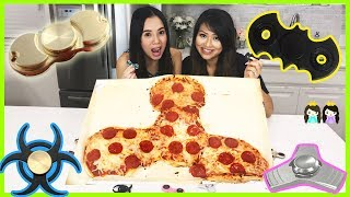 FIDGET SPINNER PIZZA + HAND SPINNERS COLLECTION CHALLENGE DIY GIANT FIDGET TOY Princess ToysReview