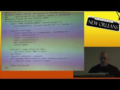 "RubyConf 2010 - LDAP: the Original ""NoSQL"" by: Michael Granger"