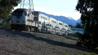 Metrolink Train at Sylmar, California - 1/27/10 (HD)