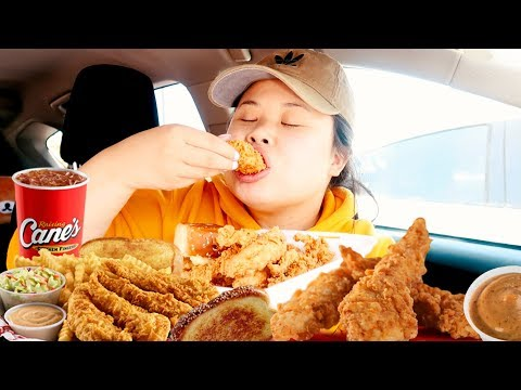 MUKBANG RAISING CANE'S CHICKEN 먹방 (EATING SHOW!) WORTH THE HYPE...?