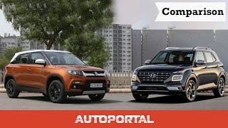 Hyundai Venue vs Maruti Suzuki Vitara Brezza - Autoportal