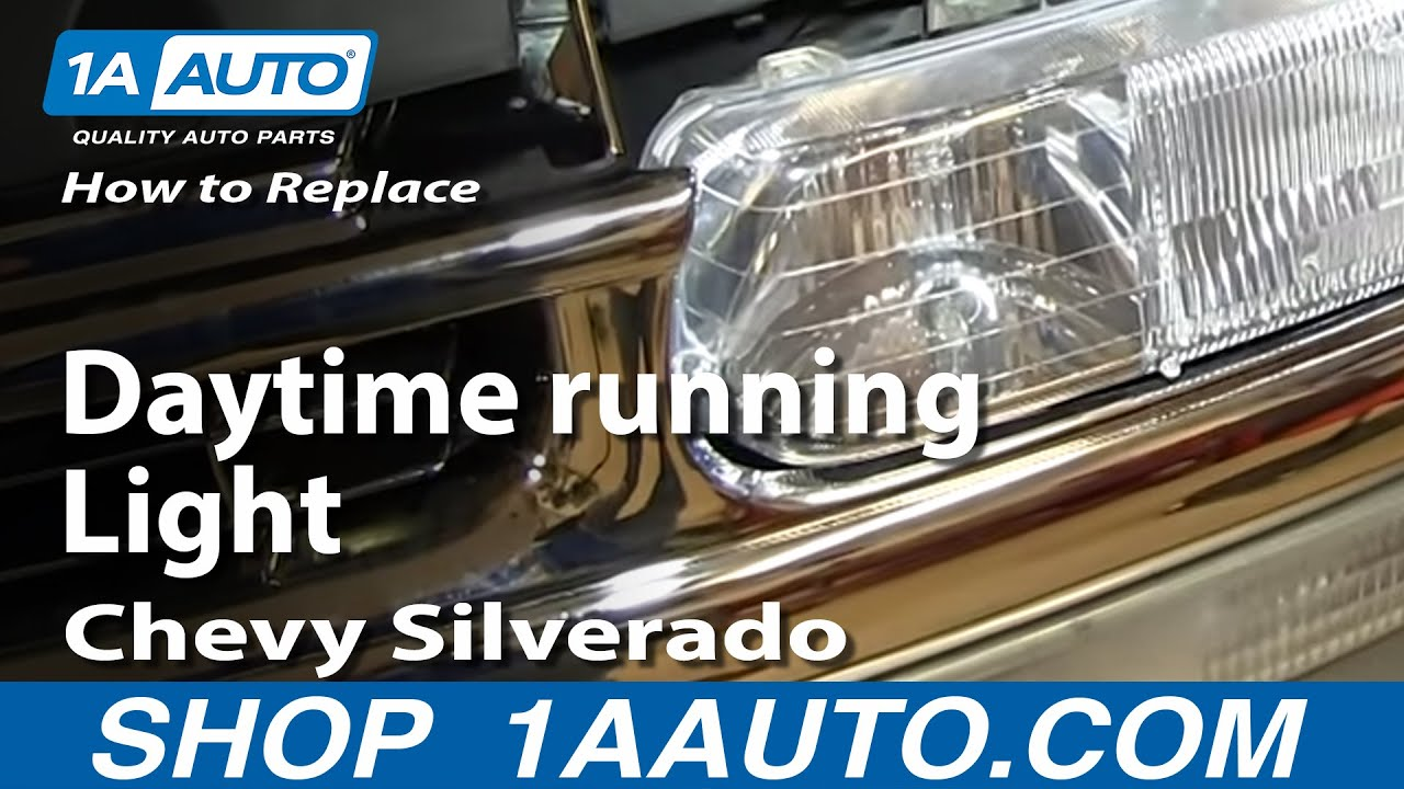 How To Replace Burned Out Daytime Running Light Chevy Silverado Gmc 94 Pickup Tail Wiring Sierra