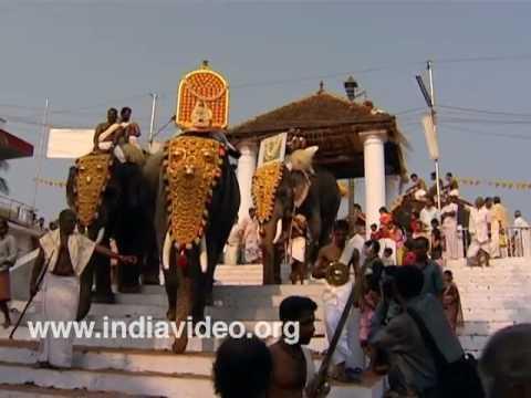 Holy bath at Sree Sundareswara Temple, Kannur