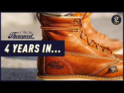 THOROGOOD MOC TOE BOOTS REVIEW | 4 Year Update | Stylish 6 Inch Tobacco Heritage Boot