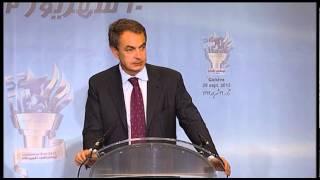 José Luis Rodríguez Zapatero en apoyo de campo Ashraf y resistencia de irán - Ginebra 20 Sep. 2013